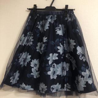 しまむら - 花柄チュールスカート