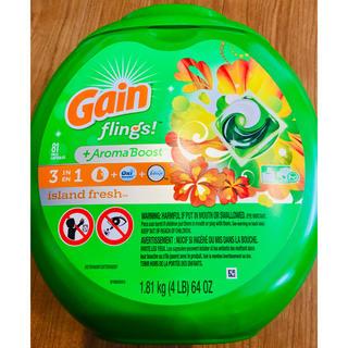 コストコ - 特大 81個 Gain ゲインオールインワン ジェルボール アメリカ 洗剤