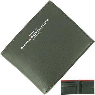 ディーゼル(DIESEL)の【新品】 ディーゼル 二つ折り財布 ロゴプリント カーキ(折り財布)