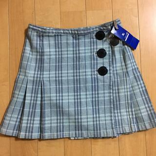 バーバリーブルーレーベル(BURBERRY BLUE LABEL)のバーバリーブルーレーベルデニムスカート 新品タグ付き(ひざ丈スカート)