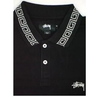 STUSSY - ステューシー  ポロシャツ 半袖 114900 サイズ:M カラー:ブラック
