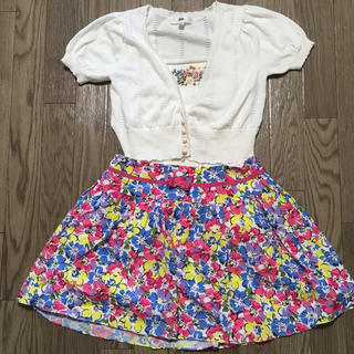 バービー(Barbie)のバービー トップスとスカートセット(カットソー(半袖/袖なし))