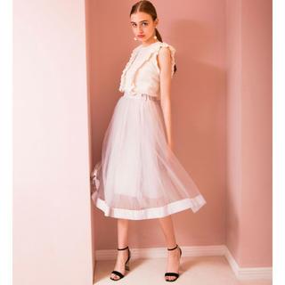 エイミーイストワール(eimy istoire)のエイミーストワール チュールボリュームスカート 美品(ひざ丈スカート)