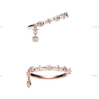 ミキモト(MIKIMOTO)のミキモト 最新作 ダイヤモンド ピンキーディナーリング  #5 ピンクゴールド(リング(指輪))