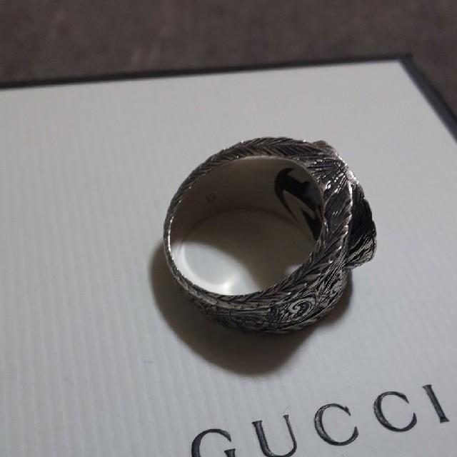 Gucci(グッチ)のGUCCI インター ロッキング リング 燻し 13号表記 メンズのアクセサリー(リング(指輪))の商品写真