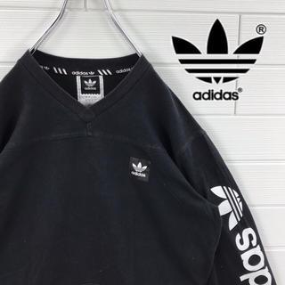 adidas - adidas アディダス ロンT サイドデザイン ゆるダボ トレフォイルロゴ