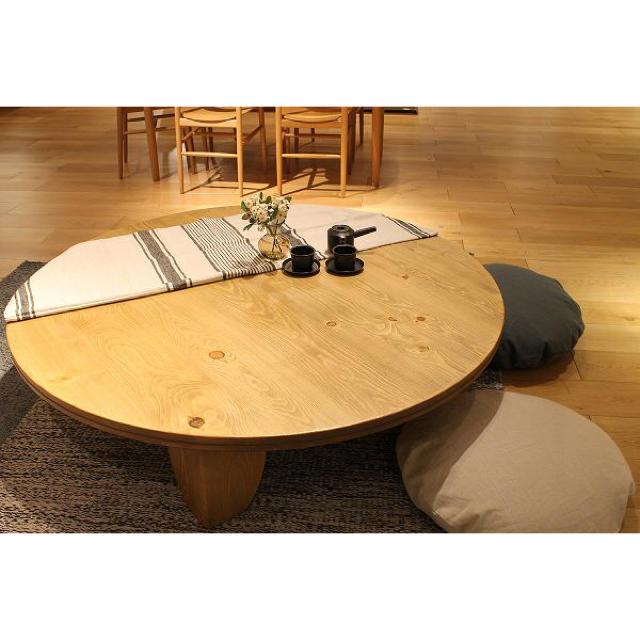 ACTUS(アクタス)の26万!Actus/アクタス パイン材無垢 F1テーブル 座卓/センターテーブル インテリア/住まい/日用品の机/テーブル(ローテーブル)の商品写真