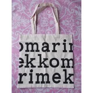 マリメッコ(marimekko)のmarimekko帆布スクエアエコバッグ黒字(エコバッグ)