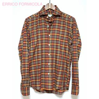 フィナモレ(FINAMORE)のERRICO FORMICOLA(エリッコフォルミコラ)◆ワイドカラー◆XS(シャツ)