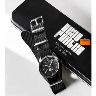 ポーター(PORTER)のsmart 2月号 付録 HEAD PORTER オールブラックミリタリー腕時計(腕時計(アナログ))