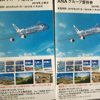 エーエヌエー(ゼンニッポンクウユ)(ANA(全日本空輸))のANA株主優待冊子2冊(航空券)