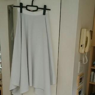 ルネ(René)のルネ スカート ホワイトグレー(ひざ丈スカート)
