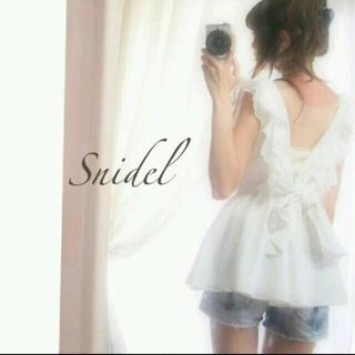 snidel - SNIDEL バックリボン チュニック