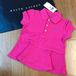 Ralph Lauren - 新品未使用 ラルフローレン  ポロシャツ チュニック ワンピース 90 24M
