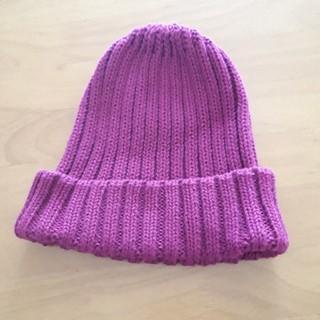 GU - ジーユー パープル ニット帽