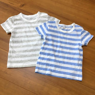 ムジルシリョウヒン(MUJI (無印良品))の無印 半袖ボーダーTシャツセット(Tシャツ/カットソー)
