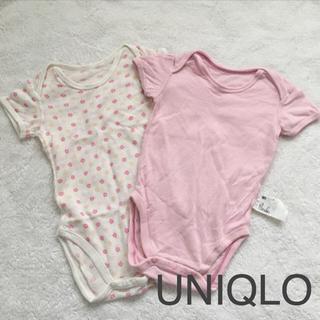 UNIQLO - UNIQLOメッシュロンパース□80