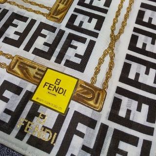 FENDI - 新品 FENDI⑤ ハンカチーフ 大判 膝掛け ベージュ系  ズッカ柄