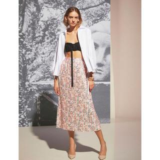 バーニーズニューヨーク(BARNEYS NEW YORK)のタロウホリウチ taro horiuchi ピンク プリーツスカート(ロングスカート)
