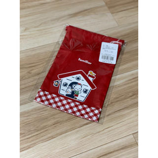 familiar - 未使用 familiar☆巾着 コップ袋