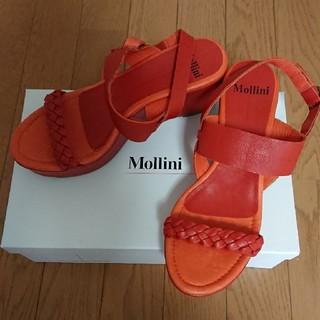ザラ(ZARA)の新品 mollini モリーニ オレンジサンダル 36(サンダル)