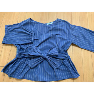 SM2 - SM2 Blue 長袖ブラウス