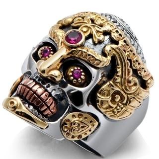 値引き スカル 指輪 パンク メキシカンリング(リング(指輪))
