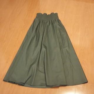 GU - GU カーキ ロングスカート