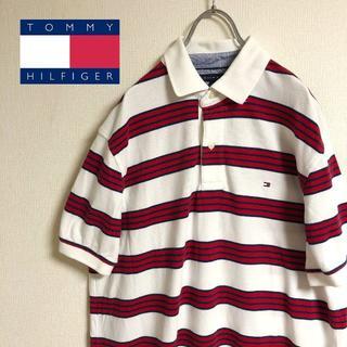トミーヒルフィガー(TOMMY HILFIGER)のトミーヒルフィガー マルチボーダー ポロシャツ ビッグシルエット(ポロシャツ)