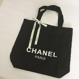 CHANEL - 1475 CHANEL キャンバス地トートバッグ リボン付き