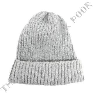 シンプルニット帽◇ライトグレー/送料無料