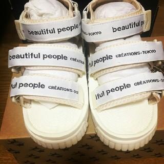 beautiful people - ビューティフルピープル ベルテッドサンダル ホワイト