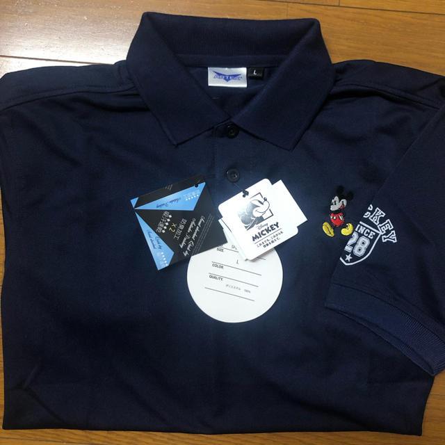 Disney(ディズニー)のディズニー ミッキーマウス ARTEX ドライポロシャツ ネイビー L メンズのトップス(ポロシャツ)の商品写真