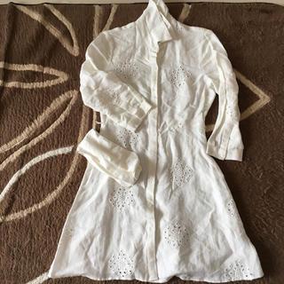 ZARA - 新品ザラ麻ロングシャツ