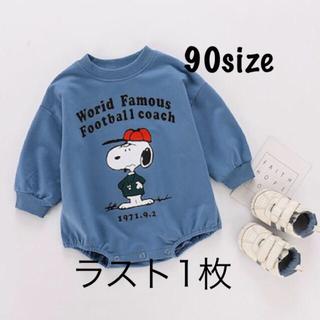【大人気】トレーナーロンパース スヌーピー キッズ☆ベビー 韓国子供服