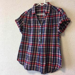 ベルメゾン - 【BELLE MAISON】授乳トップス チェックシャツ ブルー×レッド