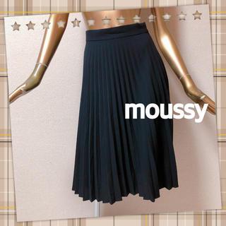 マウジー(moussy)のmoussy ★ プリーツ フレア Aライン ひざ丈 スカート(ひざ丈スカート)