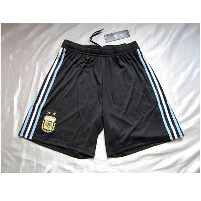 adidas(アディダス)の新品★アディダス・サッカー アルゼンチン代表・ゲームパンツ黒(L)!★送料込 スポーツ/アウトドアのサッカー/フットサル(ウェア)の商品写真
