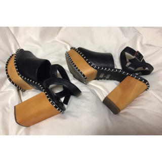 moussy - MOUSSY ❤︎ wooden sole 厚底サボサンダル