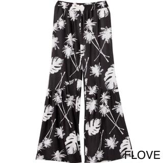FLOVE - 新品 FLOVE パームフレアパンツ ブラック F リーフ柄