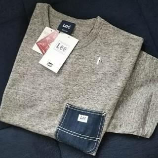 リー(Lee)の◎新品タグ付き◎  LEE  デニムポケットTシャツ/グレー/M(Tシャツ/カットソー(半袖/袖なし))