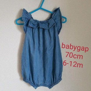 babyGAP - baby gap デニム フリル ロンパース 70
