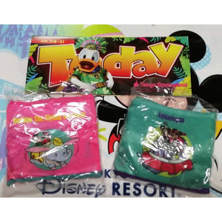 Disney - 【新品未使用】ディズニー エコバッグ ピンク&水色 2点セット +最新TODAY