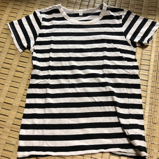 ムジルシリョウヒン(MUJI (無印良品))のボーダー Tシャツ 子供 140(Tシャツ/カットソー)