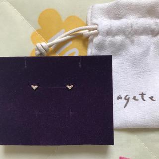 agete - アガット K18 ダイヤ ピアス