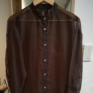 JEANASIS - JEANASIS シアーバンドカラーシャツ ブラウン