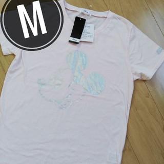 ディズニー(Disney)のミッキー 半袖 Tシャツ レディースM ピンク(Tシャツ(半袖/袖なし))