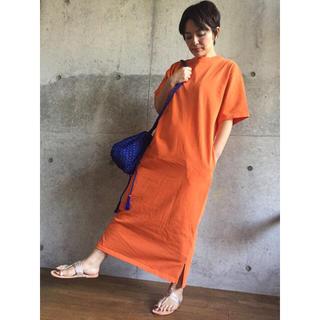 値下げ!【JANE SMITH】コットンロングスリットワンピース 定価2.5万円(ロングワンピース/マキシワンピース)