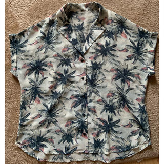 ジーユー(GU)のGU ボタニカル 開襟ブラウス(シャツ/ブラウス(半袖/袖なし))