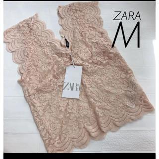 ZARA - 【新品・未使用】ZARA レース トップス M